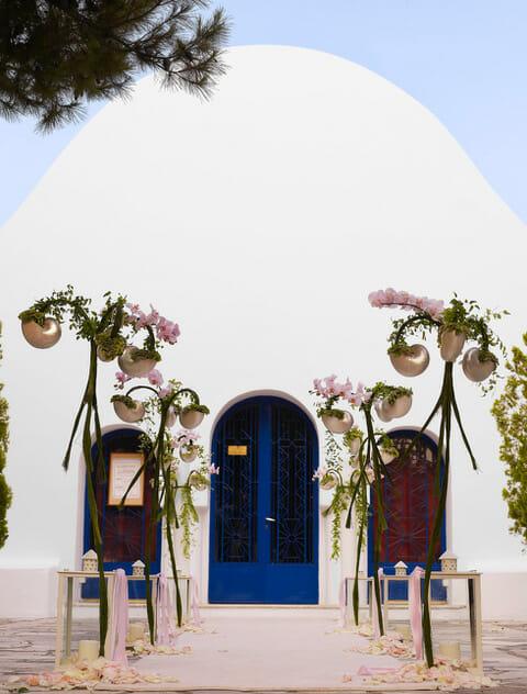 Mykonos wedding nautilus decor